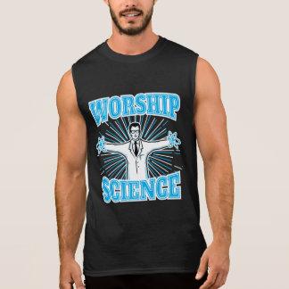 Science Worship Funny Geek & Atheist Anti-Religion Sleeveless Shirt