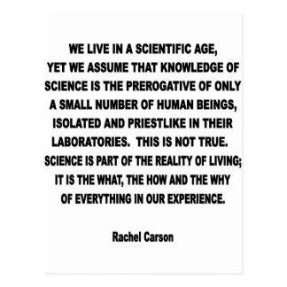 scientific age postcard