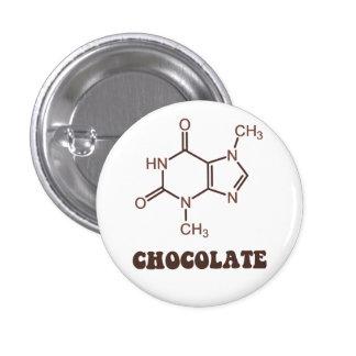 Scientific Chocolate Element Theobromine Molecule 3 Cm Round Badge