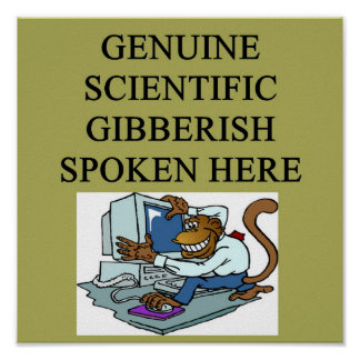 scientific gibberish poster