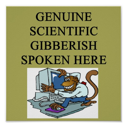 scientific gibberish poster
