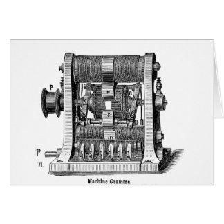Scientific machine illustration technology greeting card