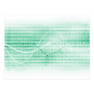 Scientific Research Chart for Medical Sales Art Postcard