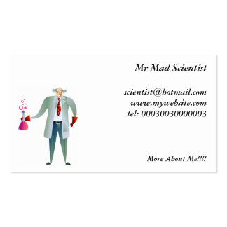 Scientist Pack Of Standard Business Cards