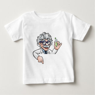 Scientist Cartoon Character Holding Test Tube Baby T-Shirt