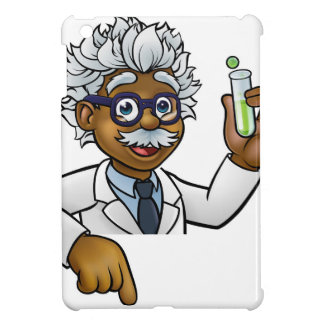 Scientist Cartoon Character Holding Test Tube Case For The iPad Mini