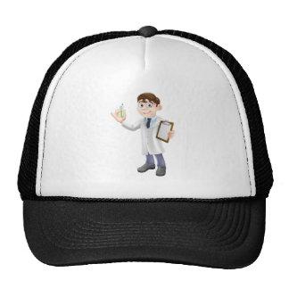 Scientist cartoon trucker hat