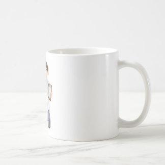 Scientist cartoon coffee mugs