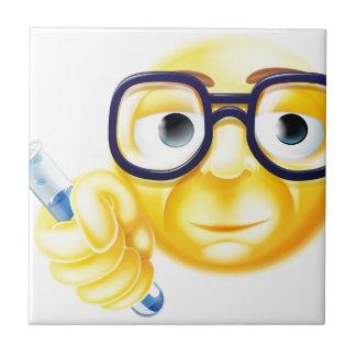 Scientist Emoji Emoticon Small Square Tile