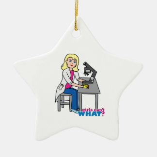 Scientist Girl - Light Blonde Ornament