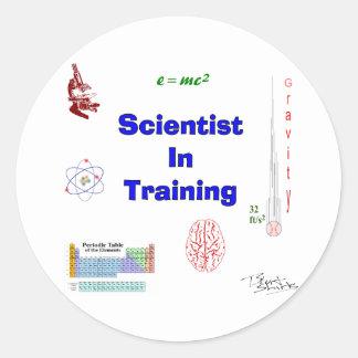 Scientist in Training Round Sticker