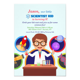 Scientist Kid Birthday Party Invitation
