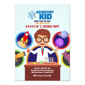 Scientist Kid Invitation