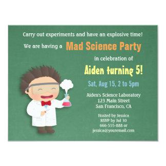 Scientist Mad Science Birthday Party Invitations