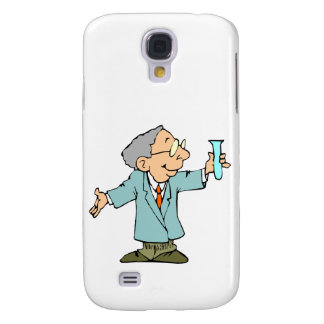 Scientist Nerd in Lab Coat With Test Tupe Galaxy S4 Case