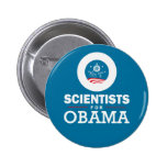 Scientists for Obama Pinback Button