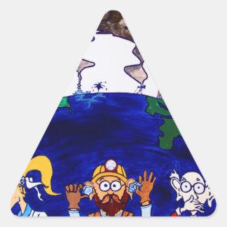 Scientists Muzzled_I Triangle Sticker