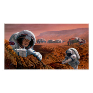 Scientists on Mars Poster