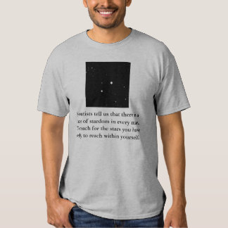 Scientists tell us that there is a... shirts