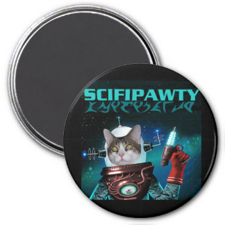 SciFi Pawty Magnet - Round