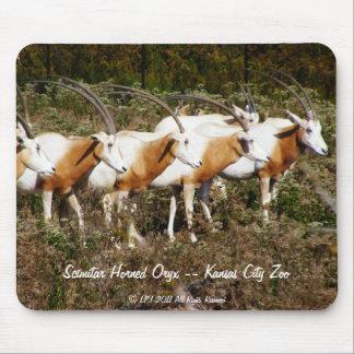 Scimitar Horned Oryx mousepad