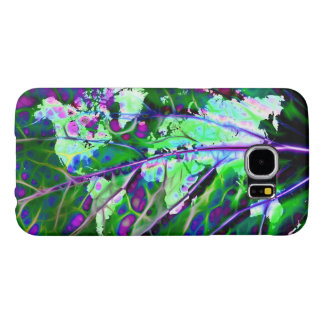 Scintillating Leaf World Map Samsung Galaxy S6 Cases
