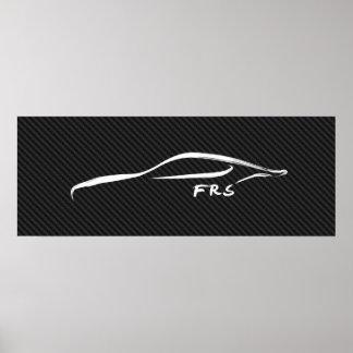 Scion FR-S Brushstroke on faux carbon fiber Print