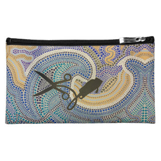 scissors and Clippers Dot Smart -Hair Salon Art Cosmetic Bag