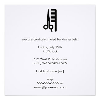Scissors and Comb Personalized Announcements