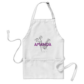 Scissors and Comb Personalized Text Standard Apron