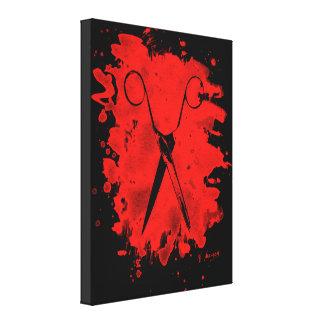 Scissors - bleached talk canvas print