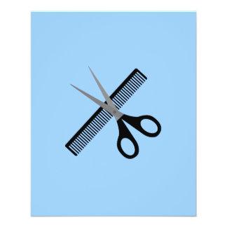 scissors & comb 11.5 cm x 14 cm flyer