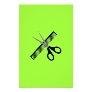 scissors & comb 14 cm x 21.5 cm flyer