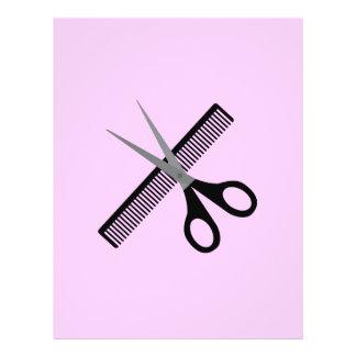 scissors & comb 21.5 cm x 28 cm flyer