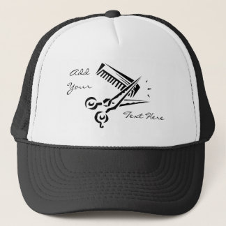 Scissors Comb Hairdresser Stylist Salon Hat