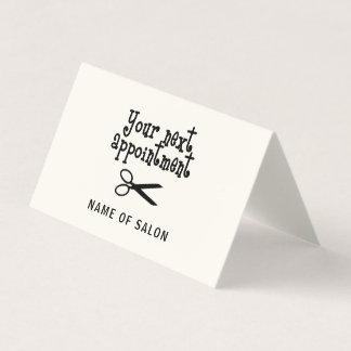 Scissors - Hair Stylist Appointment Card