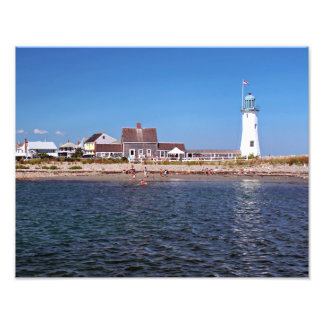 Scituate Lighthouse, Massachusetts Photographic Print