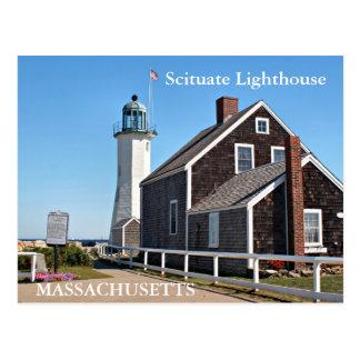 Scituate Lighthouse, Massachusetts Postcard