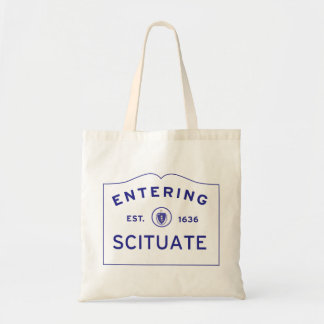 Scituate MA Boat Tote Beach Bag