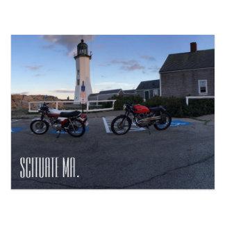 Scituate Massachusetts Lighthouse & Moto Postcard
