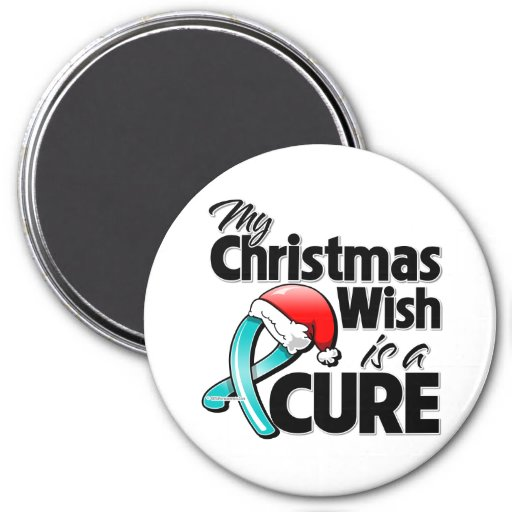 Scleroderma My Christmas Wish is a Cure Fridge Magnet