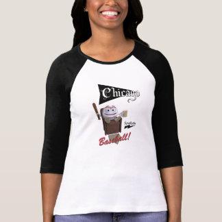 "Scolletta ""Chicago Baseball!"" 3/4 Sleeve Raglan T-Shirt"