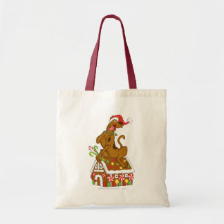Scooby and Gingerbread House Budget Tote Bag