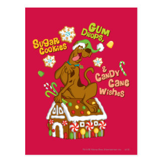 Scooby and Gingerbread House Post Card
