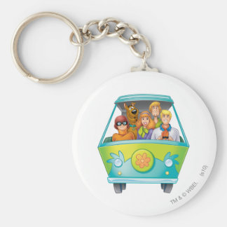 Scooby Doo Airbrush Pose 25 Basic Round Button Key Ring