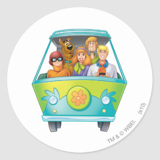 Scooby Doo Airbrush Pose 25 Round Sticker