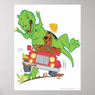 Scooby Doo Dinosaur Attack1 Poster