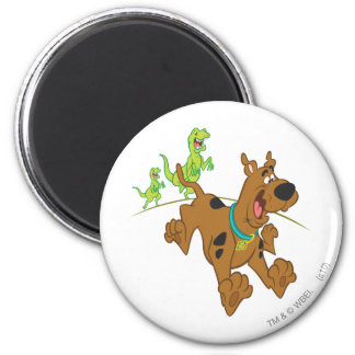 Scooby Doo Dinosaur Chasing2 Magnet