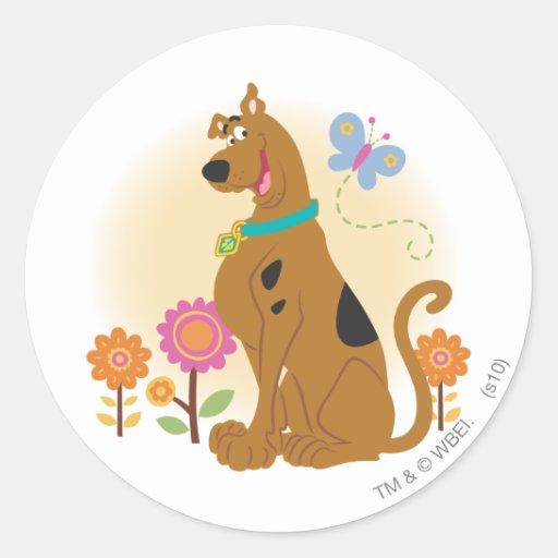Scooby Doo Following Butterfly1 Sticker