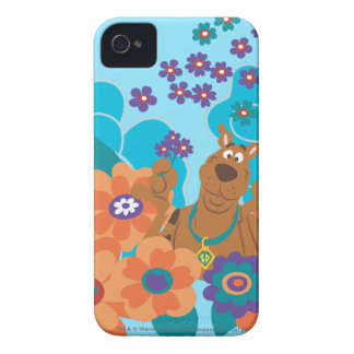 Scooby Doo in Flower Field iPhone 4 Case-Mate Cases